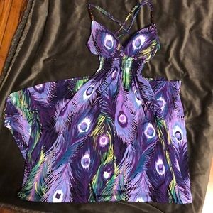 Strappy back summer dress